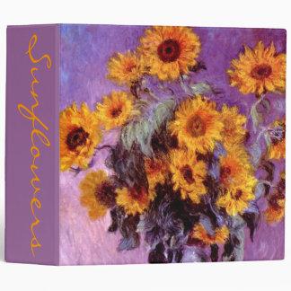 Claude Monet: Sunflowers Vinyl Binders