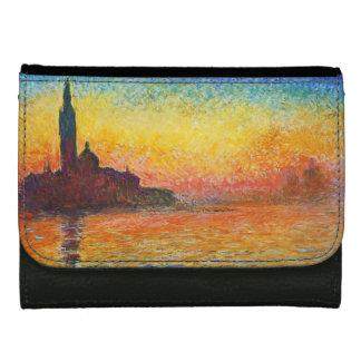 Claude Monet Sunset In Venice Impressionist Art Wallet