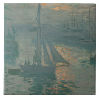 Claude Monet – Sunset (Marine) Ceramic Tiles