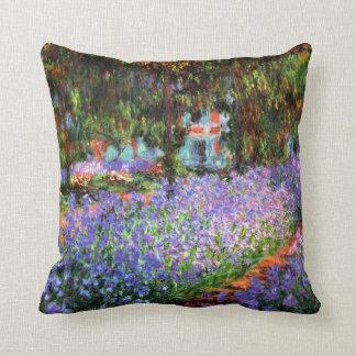 Claude Monet The Artist's Garden at Giverny Throw Pillow