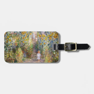 Claude Monet The Artist's Garden at Vétheuil, 1880 Luggage Tag