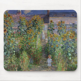 Claude Monet | The Artist's Garden at Vetheuil Mouse Pad