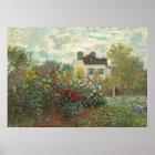 Claude Monet   The Artist's Garden in Argenteuil Poster