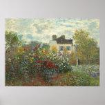 Claude Monet | The Artist's Garden in Argenteuil Poster