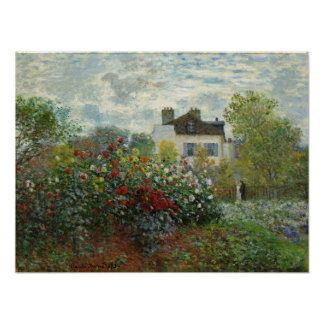 Claude Monet: The Artist's Garden in Argenteuil Poster