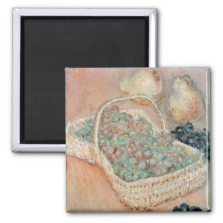 Claude Monet | The Basket of Grapes, 1884 Square Magnet