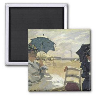 Claude Monet | The Beach at Trouville, 1870 Magnet
