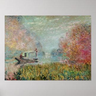 Claude Monet | The Boat Studio on the Seine, 1875 Poster