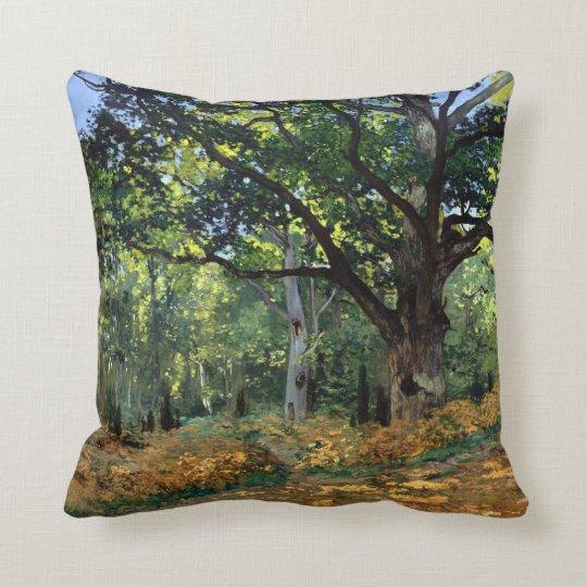 Claude Monet The Bodmer Oak, Fontainebleau Forest Throw Pillow