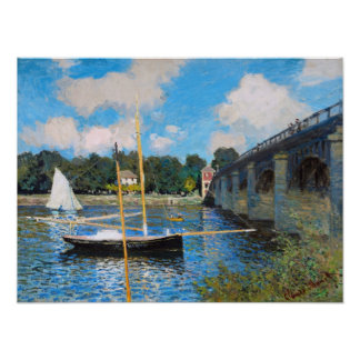 Claude Monet: The Bridge at Argenteuil Poster