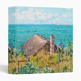 Claude Monet The Cabin At Saint-Adresse Fine Art 3 Ring Binders