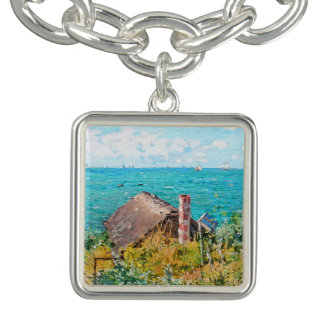 Claude Monet The Cabin At Saint-Adresse Fine Art Bracelet
