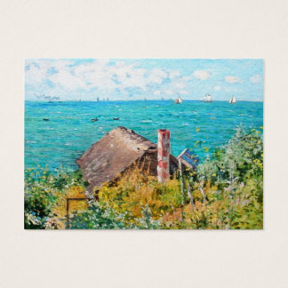 Claude Monet The Cabin At Saint-Adresse Fine Art Business Card