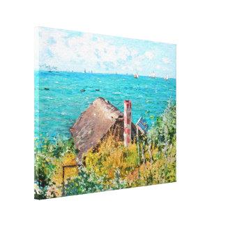 Claude Monet The Cabin At Saint-Adresse Fine Art Canvas Print