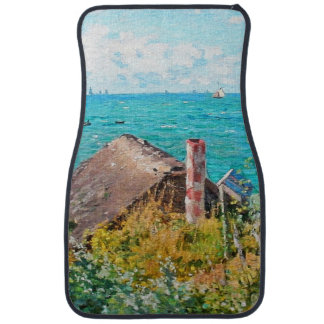 Claude Monet The Cabin At Saint-Adresse Fine Art Car Mat