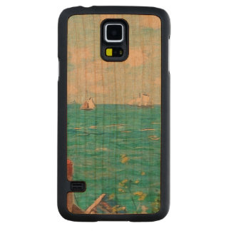 Claude Monet The Cabin At Saint-Adresse Fine Art Carved Cherry Galaxy S5 Case
