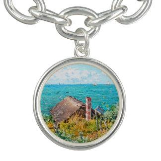 Claude Monet The Cabin At Saint-Adresse Fine Art Charm Bracelet