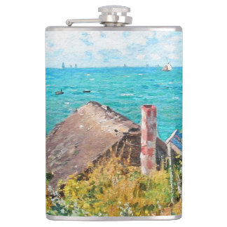 Claude Monet The Cabin At Saint-Adresse Fine Art Flasks