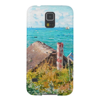 Claude Monet The Cabin At Saint-Adresse Fine Art Galaxy S5 Cover