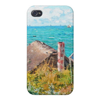 Claude Monet The Cabin At Saint-Adresse Fine Art iPhone 4/4S Cover