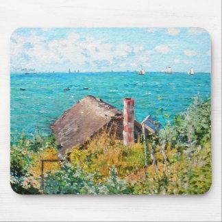 Claude Monet The Cabin At Saint-Adresse Fine Art Mouse Pad