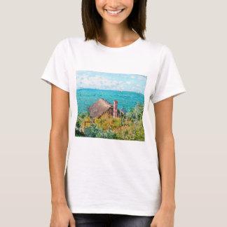 Claude Monet The Cabin At Saint-Adresse Fine Art T-Shirt