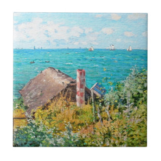 Claude Monet The Cabin At Saint-Adresse Fine Art Tile