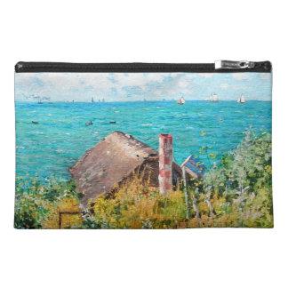 Claude Monet The Cabin At Saint-Adresse Fine Art Travel Accessory Bag