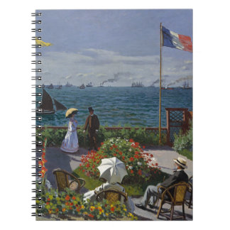 Claude Monet - The Garden at Sainte Adresse Art Notebook