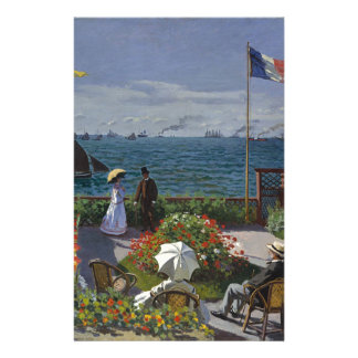 Claude Monet - The Garden at Sainte Adresse Art Stationery