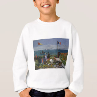 Claude Monet - The Garden at Sainte Adresse Art Sweatshirt