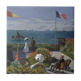 Claude Monet - The Garden at Sainte Adresse Art Tile