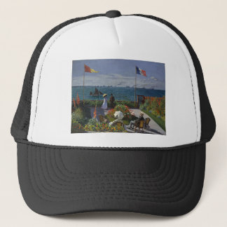 Claude Monet - The Garden at Sainte Adresse Art Trucker Hat