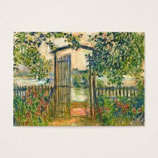 Claude Monet: The Garden Gate at Vetheuil Business Card