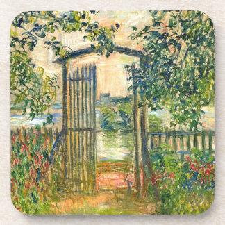 Claude Monet: The Garden Gate at Vetheuil Coaster