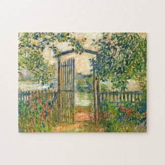 Claude Monet: The Garden Gate at Vetheuil Jigsaw Puzzle