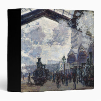 CLAUDE MONET - The Gare St-Lazare 1877 3 Ring Binder