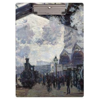 CLAUDE MONET - The Gare St-Lazare 1877 Clipboard