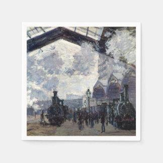 CLAUDE MONET - The Gare St-Lazare 1877 Paper Napkin