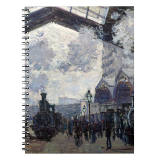 CLAUDE MONET - The Gare St-Lazare 1877 Spiral Notebook