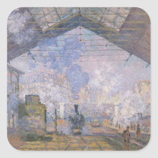 Claude Monet | The Gare St. Lazare, 1877 Square Sticker