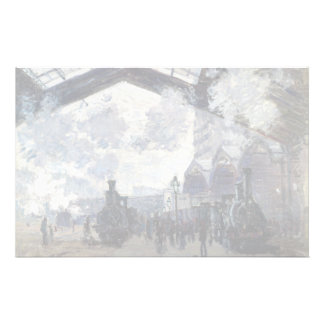CLAUDE MONET - The Gare St-Lazare 1877 Stationery