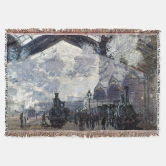 CLAUDE MONET - The Gare St-Lazare 1877 Throw Blanket
