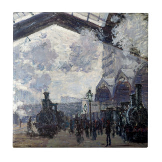 CLAUDE MONET - The Gare St-Lazare 1877 Tile
