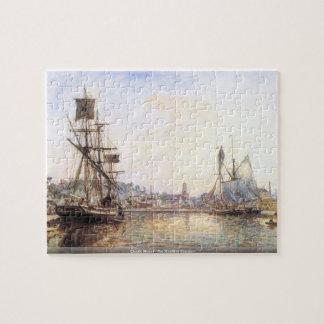 Claude Monet - The Honfleur Sea port Jigsaw Puzzle