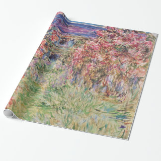 Claude Monet The House Among the Roses GalleryHD Wrapping Paper