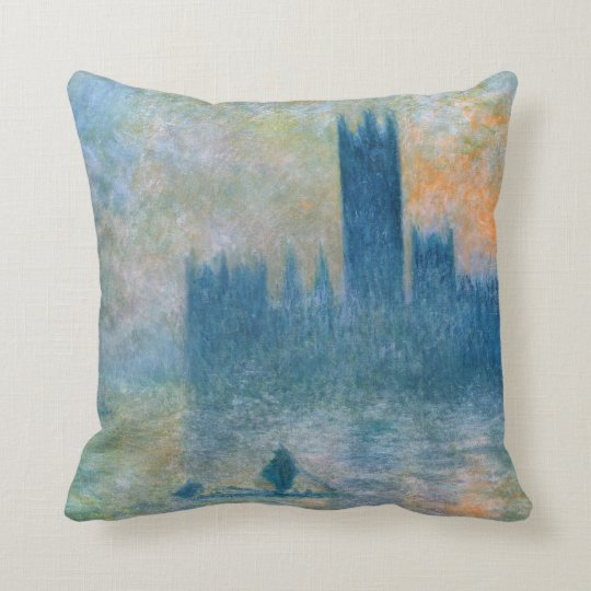 Claude Monet The Houses of Parliament Throw Pillow