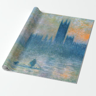 Claude Monet The Houses of Parliament Wrapping Paper