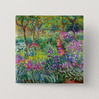 Claude Monet: The Iris Garden at Giverny 2 Inch Square Button