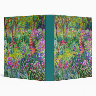 Claude Monet: The Iris Garden at Giverny 3 Ring Binder
